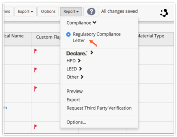 Choose Compliance Report