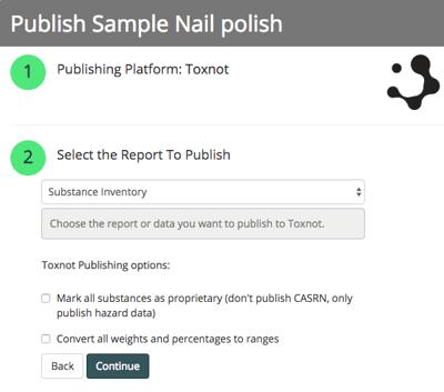 Publish Public Materials screenshot